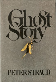 The original hardcover art for Peter Straub's horror novel Ghost Story is terrific and spooky.
